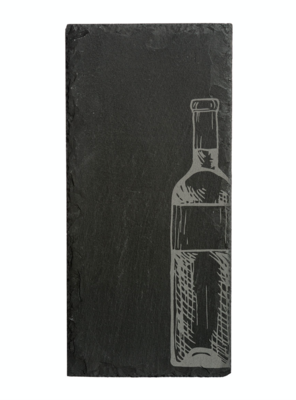 Cheese Server Charcoal Slate Wine Bottle Small