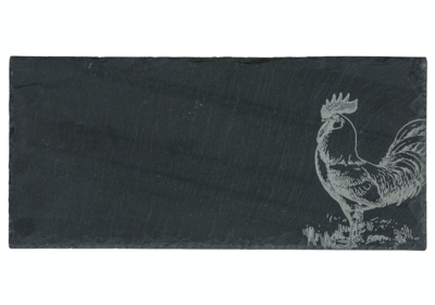 Cheese Server Charcoal Slate Rooster Small