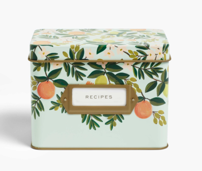 Rifle Paper Co. Recipe Box Citrus Floral