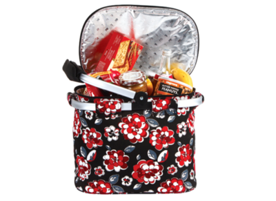Collapsible Cooler Tote Red Carnation