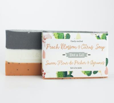 Dot & Lil Peach Blossom And Citrus Bar Soap