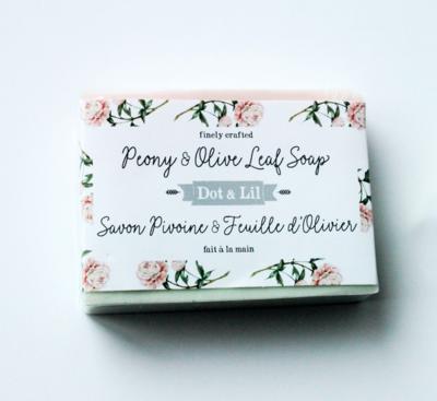Dot & Lil Peony And Olive Leaf Bar Soap