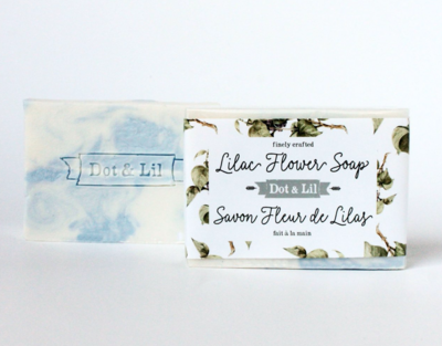 Dot & Lil Lilac Flower Bar Soap