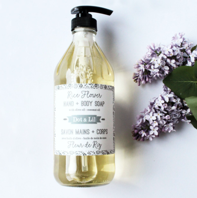 Dot & Lil Rice Flower Liquid Soap