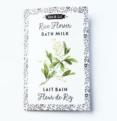 Dot & Lil Rice Flower Bath Milk Sachet