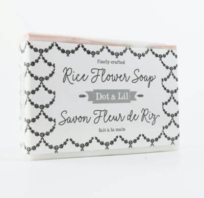 Dot & Lil Rice Flower Bar Soap