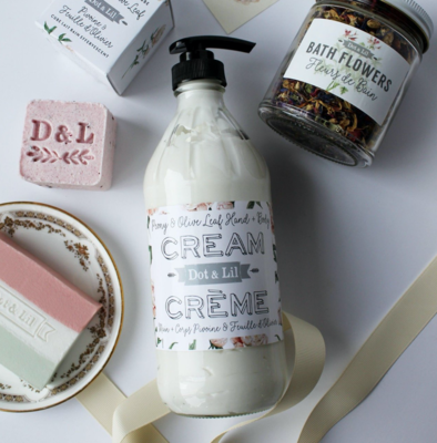 Dot & Lil Peony And Olive Leaf Hand and Body Cream