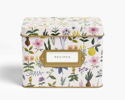 Rifle Paper Co. Recipe Box Herb Garden