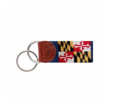 Key Fob Maryland Flag Needlepoint