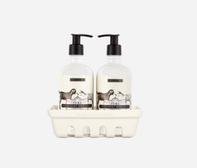 Beekman Set Of 3 Pure Goat Milk Hand Care Caddy