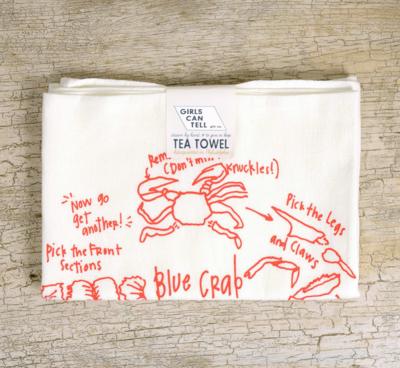Tea Towel How To Eat Crab