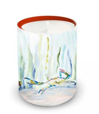 Bay Blues Ceramic Candle