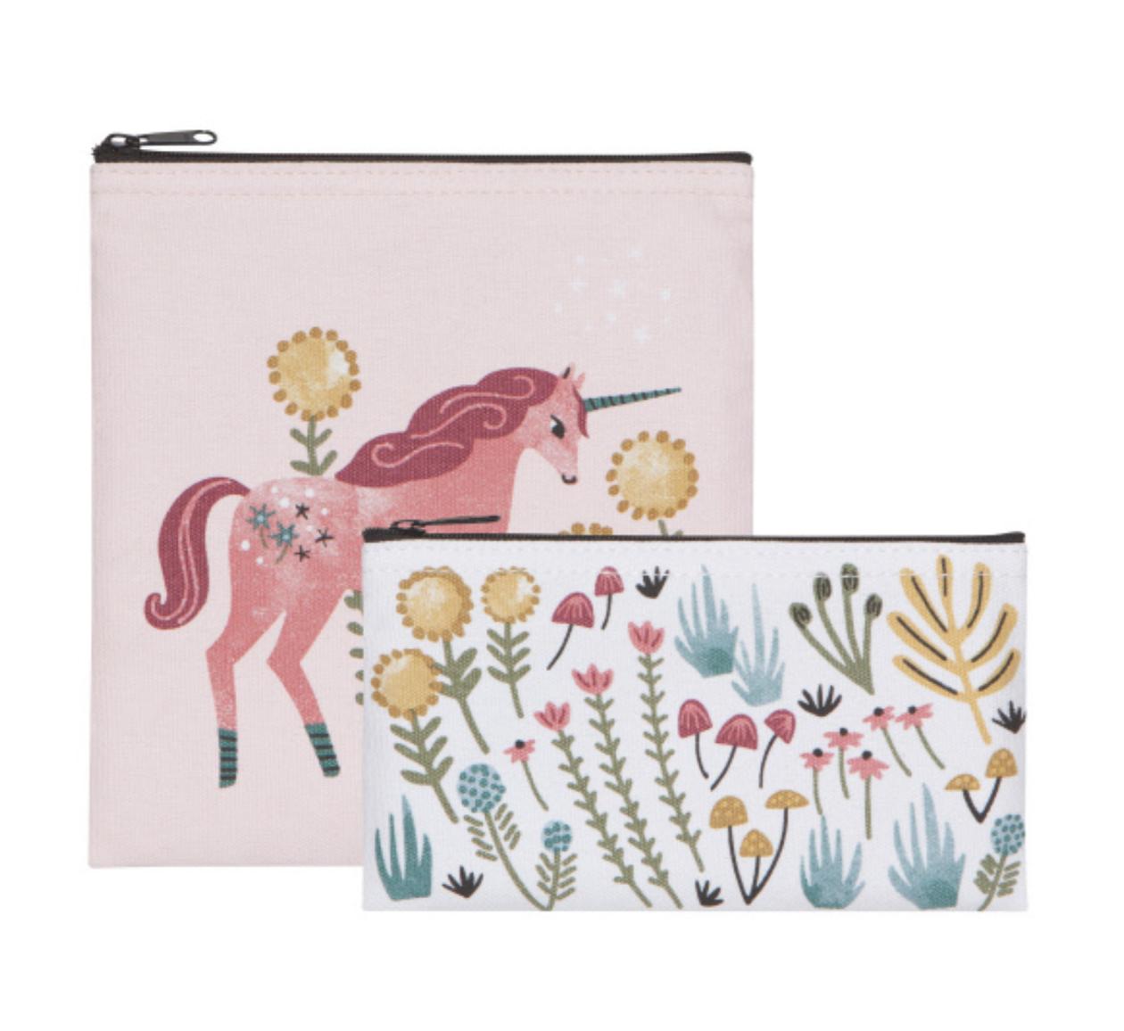 Snack Bag Set Of 2 Unicorn