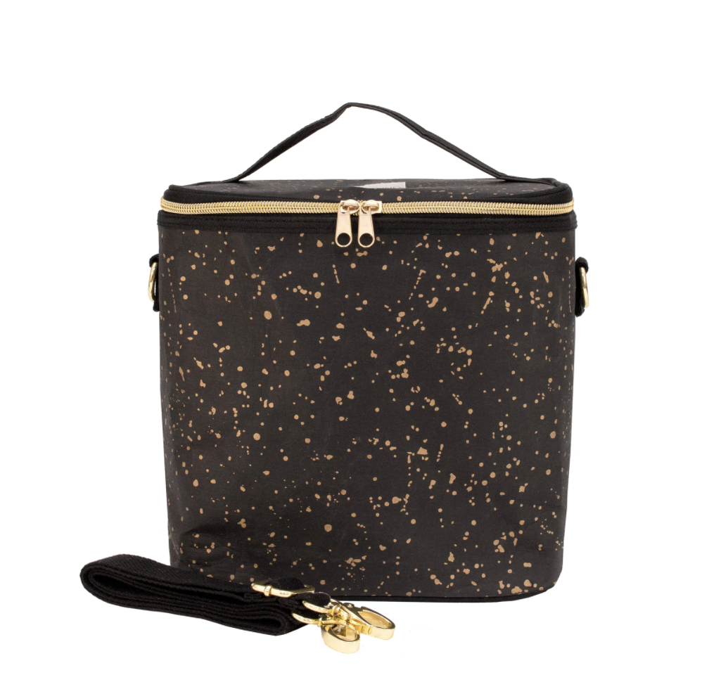 Lunch Large Black With Gold Splatter