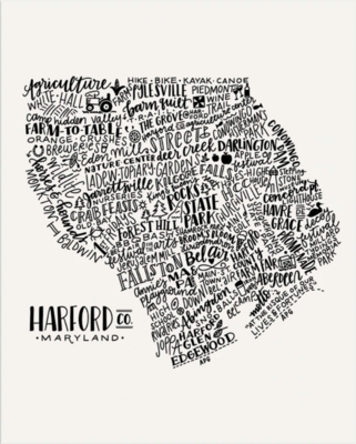Print Harford County 8x10