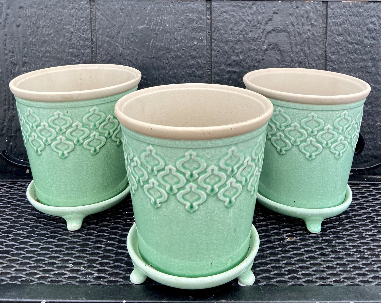 Ceramic Indo Planter-Jade green