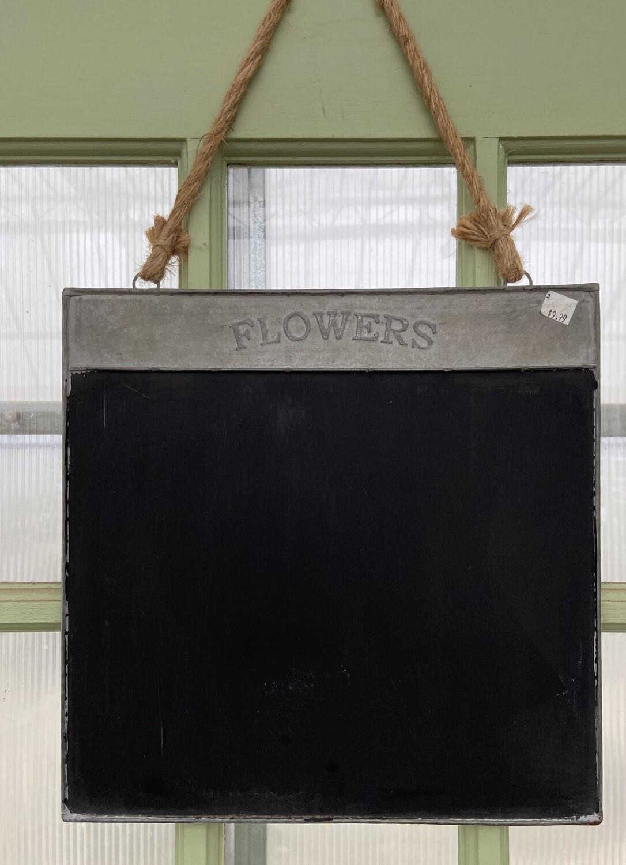 Hanging Flower Blackboard