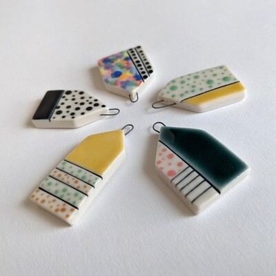 Porcelain House Pendant Group A