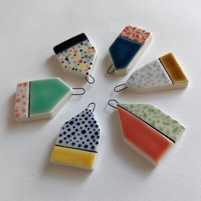 Porcelain House Pendant Group B