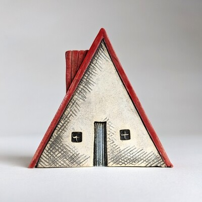 Little Red Roofed A-Frame