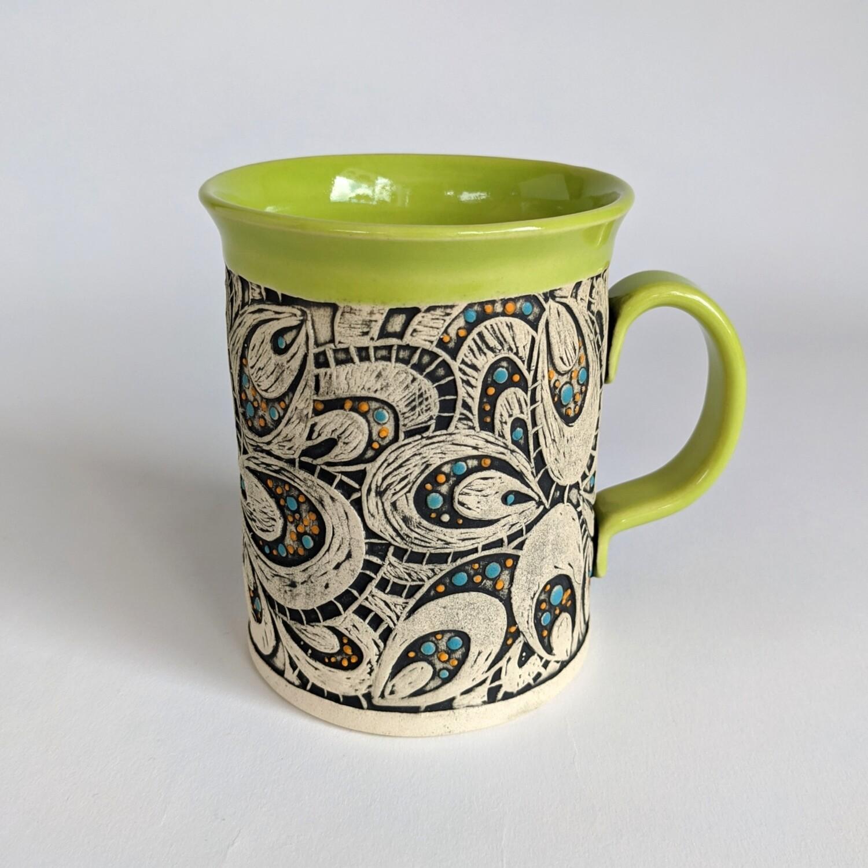 Fancy Mug Paisley Design