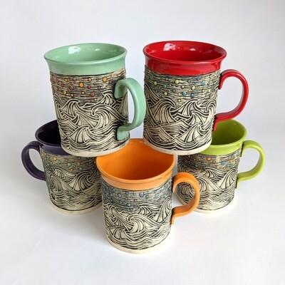 Fancy Mug Wave Design