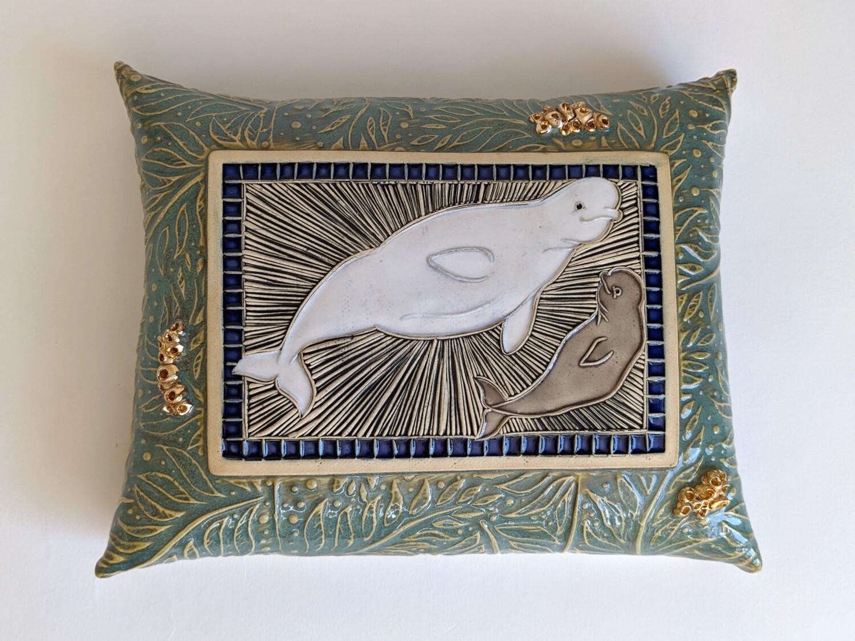 "Limited Edition ""Baby Beluga"" Wall Pillow"