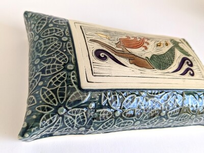Diving Mermaid Wall Pillow