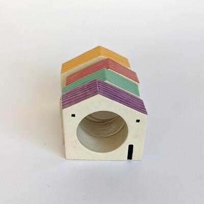 House Napkin Ring Set 2