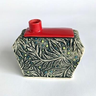 Fancy Pants Bud Vase Leaves Design