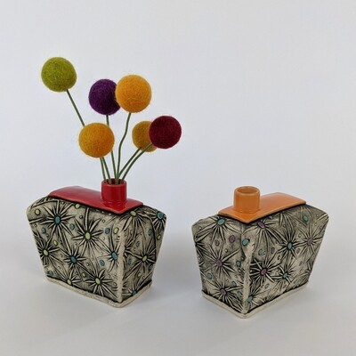Fancy Pants Bud Vase Starburst Design
