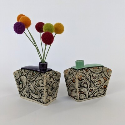 Fancy Pants Bud Vase Paisley Design