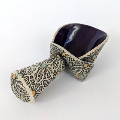 Medium Purple Ceramic Scoop