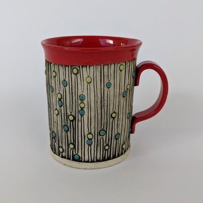 Fancy Mug Lines/Dots Design