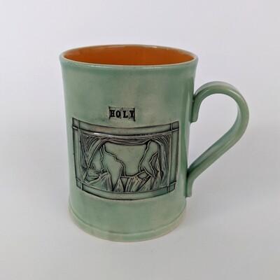 Stamp Mug 'Holy Cow' Design
