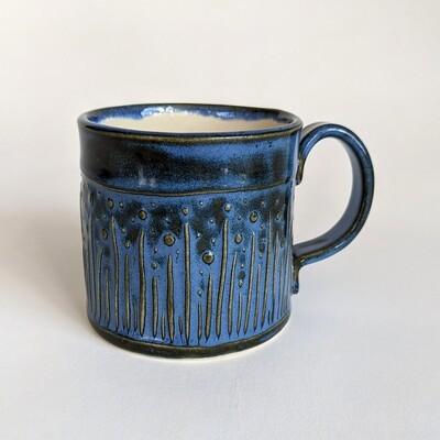 Small Poppy Design Glazed Mug