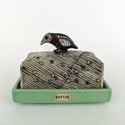 Day of the Dead Butter Dish