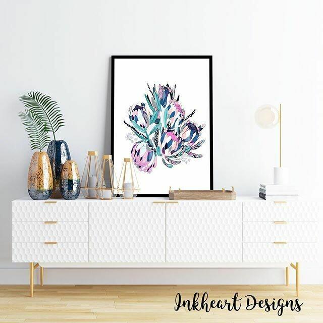 Colour Bunch white  Print