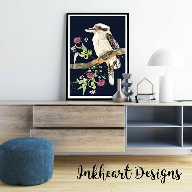 kookaburra branch Print