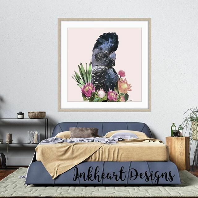 Flower  Cockatoo  Print