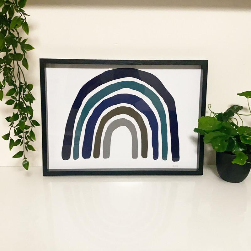 Rainbow Blue  (landscape) Print