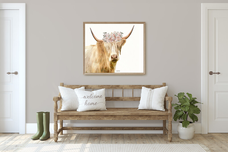 Highlander cow With Flower Crown