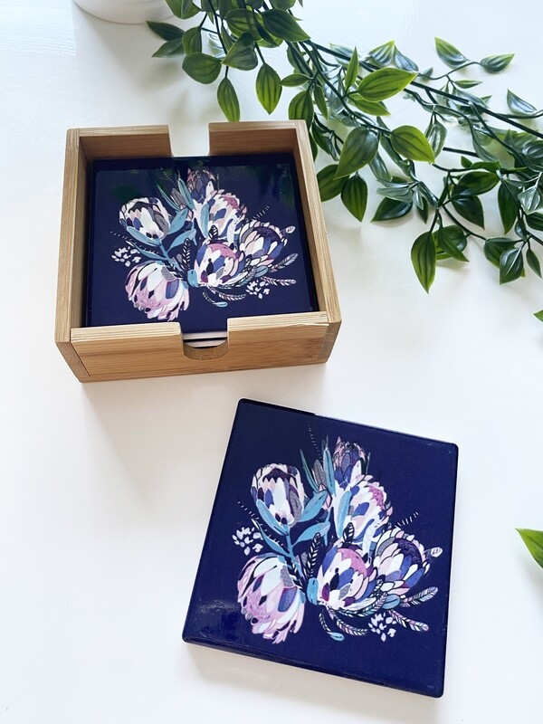 Creative Bunch (Navy) 4 coasters