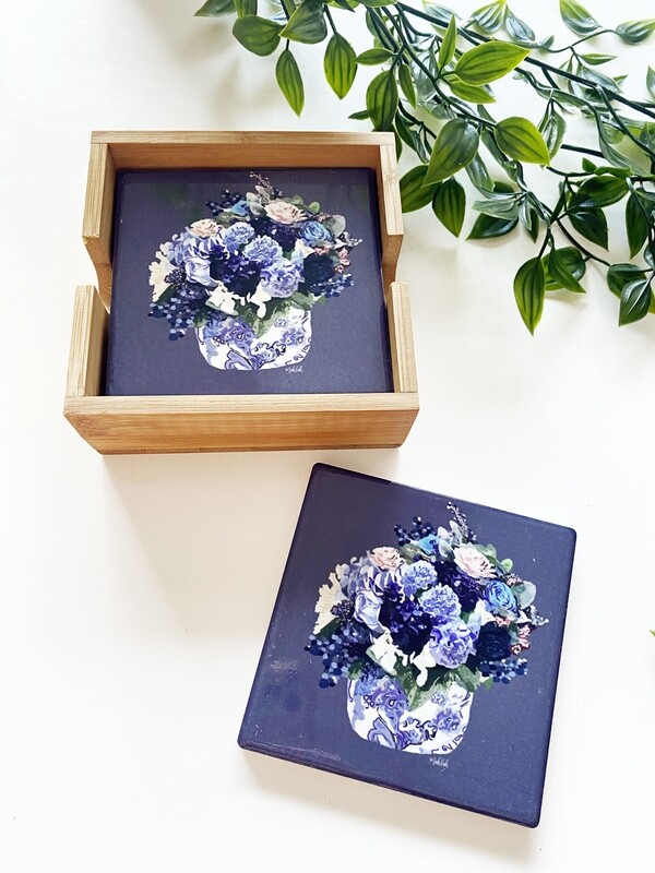 Centre Piece set of 4 coasters