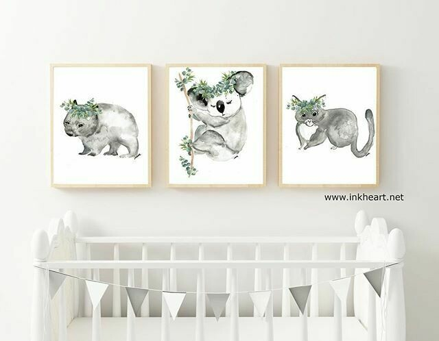 Nursery Set of 3 x A3 unframed prints