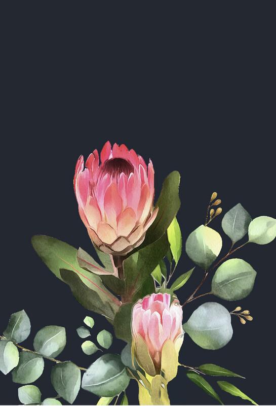 Bush Pink Print