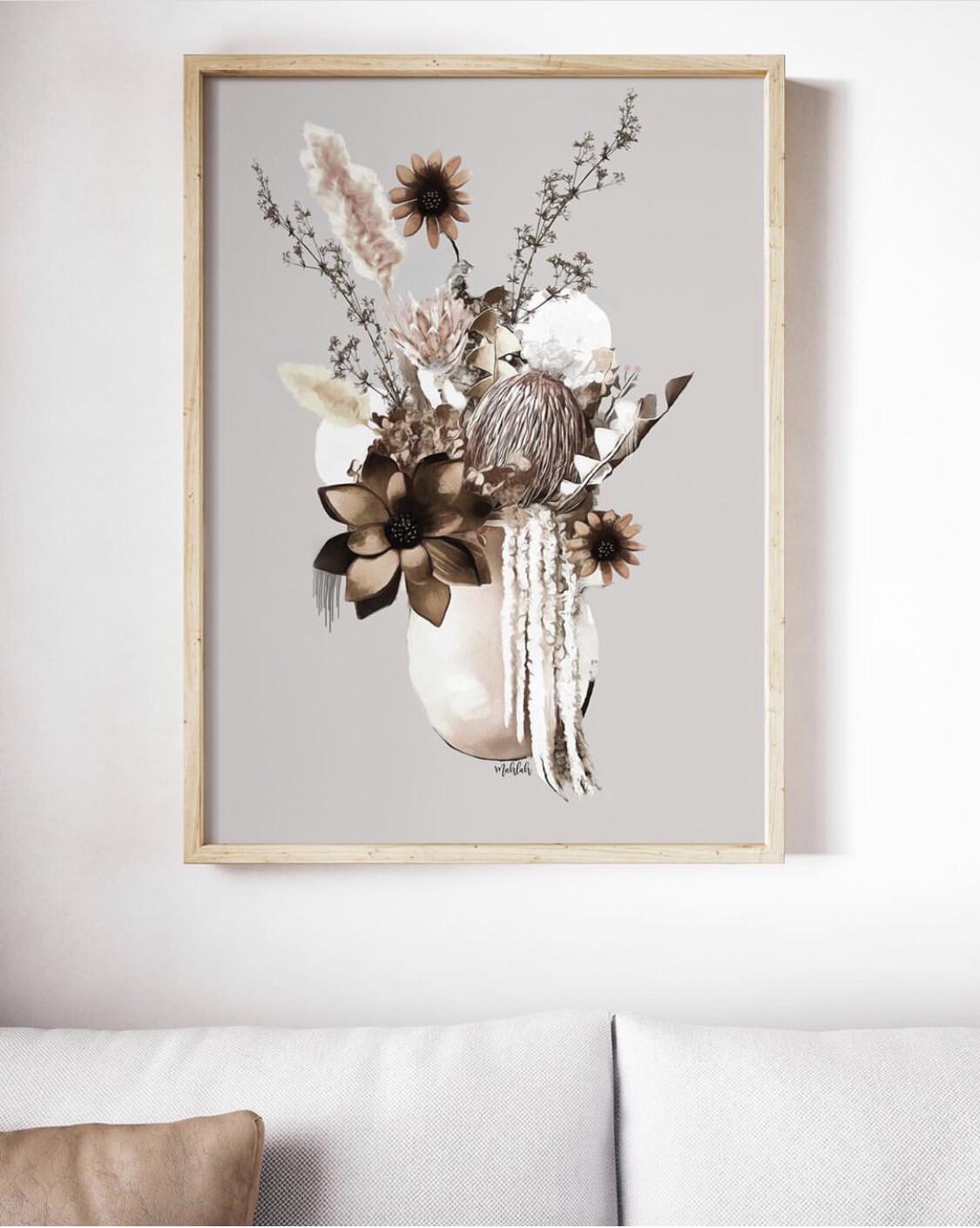 The Natural Flower Vase Print