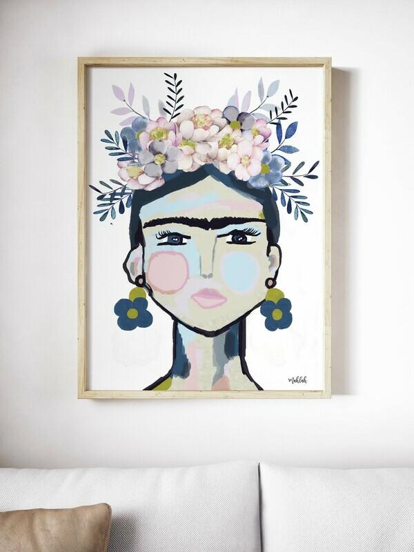 Frida (White) Print