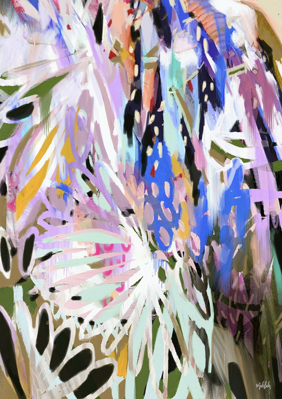 Abstract Jabiru Print