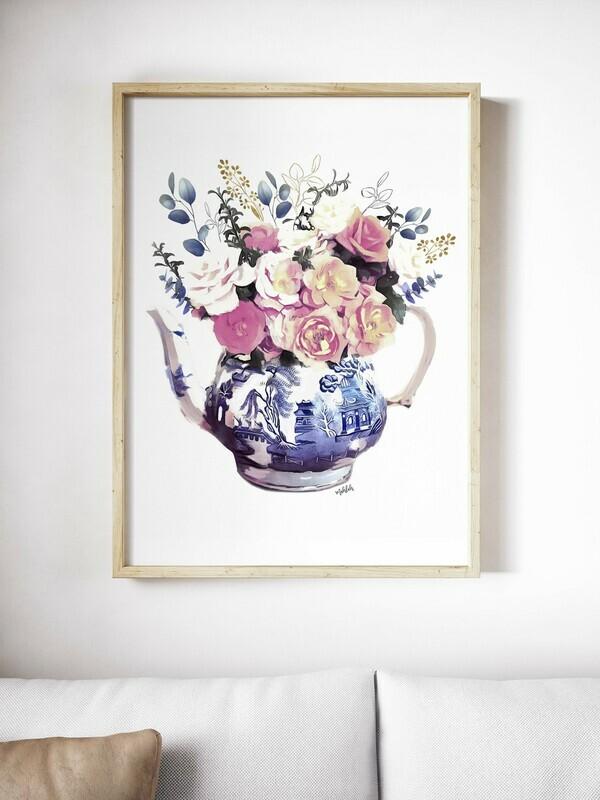 Flower teapot Print